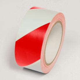 "Hazard Marking Tape, Red/White Stripes, 2""W x 108'L Roll, WT2200"
