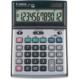 Canon 12-Digit Desktop Calculator, BS1200TS, 1-1/8 X 5-1/8 X 7-2/8, Metallic Grey by