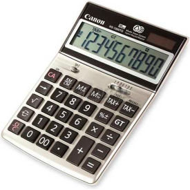 "Canon 10-Digit Desktop Calculator, HS1000TG, Dual Power, 4-5/8"" X 6-3/4"" X 1-3/8"", Ebony by"