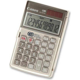 "Canon Handheld Calculator, LS154TG, 12-Digit, Dual Power, 3-1/8"" X 4-3/4"" X 2/5"", Ebony by"