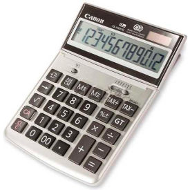"Canon 12-Digit Desktop Calculator, TS1200TG, 5-1/4"" X 7-3/8"" X 1-1/8"", Ebony by"