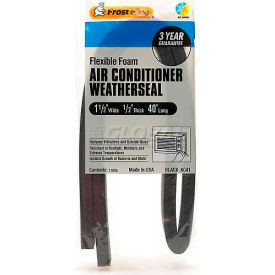 Frost King Heavy Duty Air Conditioner Weatherseal, Black - Pkg Qty 12