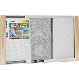 "Frost King Adjustable Window Screen, 10"" High, Extends 15-25"" - Pkg Qty 12"