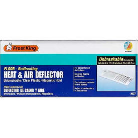 """Frost King Unbreakable Heat & Air Deflector, 10"""" Extends To 14"""" - Pkg Qty 12"""