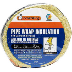 Pipe & Tubing   Pipe Insulation   Frost King Vinyl Faced Fiberglass