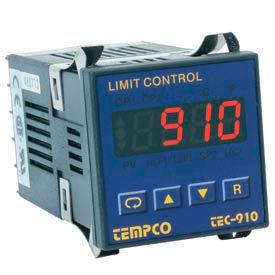 Temperature Control - Prog, 90-250V, Relay2A, Hi-Limit, TEC-910