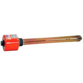 """Tempco Brass/Copper Immersion Heater TSP02090, 2"""" NPT 16""""D 7500W 480V T-Stat"""