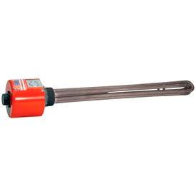 """Tempco Steel Immersion Heater TSP02211, 2"""" NPT 29""""D 5000W 480V T-Stat"""