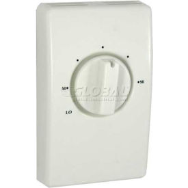TPI Line Voltage Thermostat White Double Pole With Leads 25 Amp D2025H10DA
