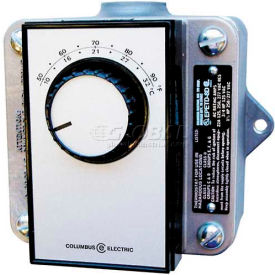 TPI Remote Mounted Thermostat EPETP8S Single Pole Double Throw Bi Metal 120-480V 50-90°F
