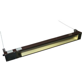 TPI Indoor/Outdoor Quartz Electric Infrared Heater OCH-46-240VE 240V 2000W - Brown