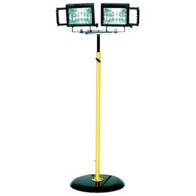 Portable Utility Pedestal Light Quartz Halogen - 2 Lamp