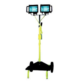 TPI Heavy Duty Portable Utility Cart Light Quartz Halogen - 1 Lamp