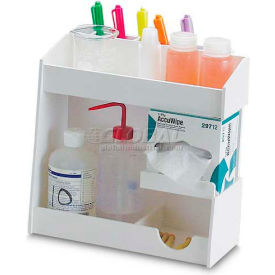 "TrippNT White PVC Small pH Meter Supplies Organizer, 12""W x 5""D x 12""H by"