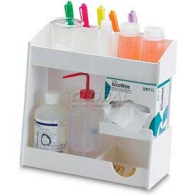 "TrippNT White PVC Small pH Meter Supplies Organizer, 12""W x 5""D x 12""H by"