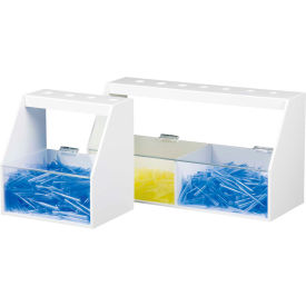 """TrippNT™ White PVC and Acrylic Double Pipette Workstation, 18""""W x 7""""D x 10""""H"""