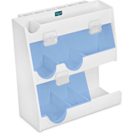 "TrippNT™ White PVC Weighing Supplies Organizer with Blue Acrylic Door, 12""W x 5""D x 12""H"
