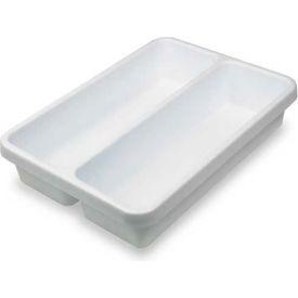 "TrippNT™ 2-Pocket Drawer Organizer Plastic Tray, 10""W x 14""D x 3""H"