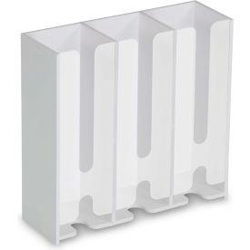 """TrippNT™ 50249 Triple Petri Dish Dispenser 12""""W x 5""""D x 15""""H, White"""