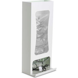 "TrippNT 50391 Tall Safety Glasses Dispenser with Clear Window, PVC, White, 8""W x 19""H x 6""D"