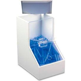 """TrippNT™ White PVC/Acrylic Small Dispensing Bin, 5""""W x 8""""D x 9""""H"""