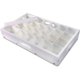"TrippNT™ White HDPE Bottle Rack, 28 Compartments, 20""W x 11""D x 3""H"