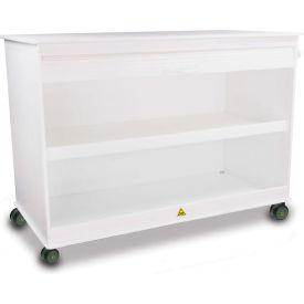 """TrippNT™ 50733 MRI Cayman 4' Lab Island Lab Cart, 48""""W x 24""""D x 37""""H, White"""