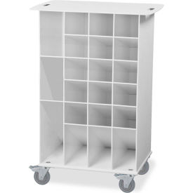 "TrippNT 50741 ABS Pipette Angled Bin Cart 22"" x 15"" x 33"" White by"