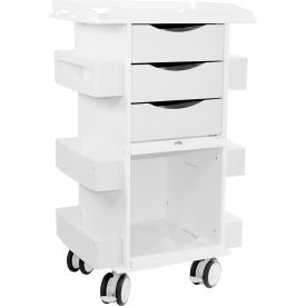 TrippNT™ 50924 Core DX Storage Cart with Security Railed Top and Clear PETG Sliding Door