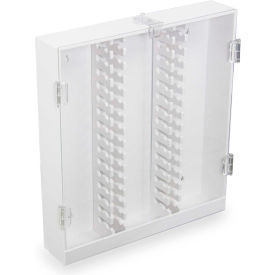 TrippNT™ 50973 White PVC HPLC Column Storage Cabinet with Clear Acrylic Doors