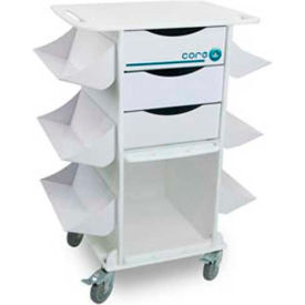 "TrippNT™ 51018 White Core CL Medical Lab Cart with Clear Sliding Door, 27""W x 19""D x 36""H"