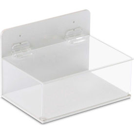 """TrippNT™ 51042 Small Lab Supply Box with Lid, 9""""W x 6""""D x 6""""H, White/Clear"""