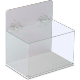 "TrippNT™ 51043 Large Lab Supply Box with Lid, 9""W x 6""D x 9""H, White/Clear"