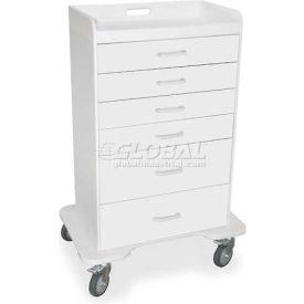 "TrippNT™ 51046 Locking 6 Drawer Procedure Cart, White, 31""W x 20""D x 48""H"