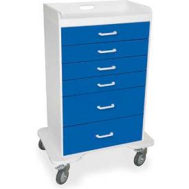 """TrippNT™ 51071 Locking 6 Drawer Procedure Cart, Global Blue, 31""""W x 20""""D x 48""""H"""