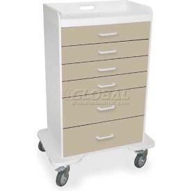 "TrippNT™ 51078 Locking 6 Drawer Procedure Cart, Almond Beige, 31""W x 20""D x 48""H"
