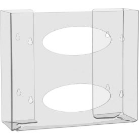 """TrippNT™ 51144 Double Two Sided Clear Glove Box Holder, PETG Plastic, 11""""W x 4""""D x 10""""H"""