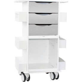 "TrippNT™ Deluxe Medical Cart with Clear Sliding Door, Silver Metallic, 23""W x 19""D x 35""H"