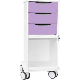 TrippNT™ Core SP Space Saving Lab Cart with Clear Sliding Door, Gum Drop Purple