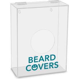 """TrippNT™ Beard Covers Labeled Small Apparel Dispenser, 9""""W x 4""""D x 12""""H, Clear"""