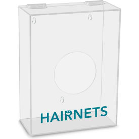 "TrippNT™ Hairnets Labeled Small Apparel Dispenser, 9""W x 4""D x 12""H, Clear"