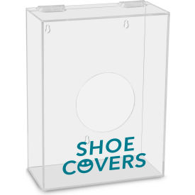 "TrippNT™ Shoe Covers Labeled Small Apparel Dispenser, 9""W x 4""D x 12""H, Clear"