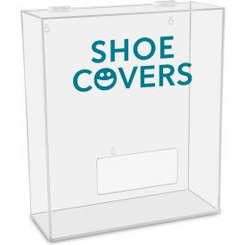 "TrippNT™ Shoe Covers Labeled Medium Apparel Dispenser, 15""W x 6""D x 18""H, Clear"