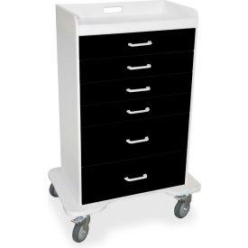 """TrippNT™ 51358 Locking 6 Drawer Procedure Cart, Black, 31""""W x 20""""D x 48""""H"""