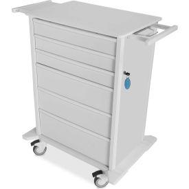 "TrippNT™ 51464 Element 02 Medical Procedure Cart, 32""W x 24""D x 43""H, White"
