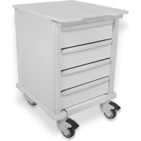 "TrippNT™ 51610 Element 07 Compact Medical Cart, 4 Drawers, 17""W x 20""D x 27""H, White"