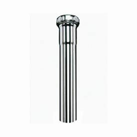 "12"" 22GA Chrome Extension Tube - Slip Joint - 1-1/4"""