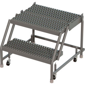 Ladders Rolling Steel Ladders 2 Step 24 Quot W 20 Quot D Top