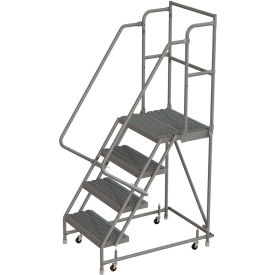 Prime Ladders Rolling Steel Ladders 4 Step 24Quotw 20Quotd Squirreltailoven Fun Painted Chair Ideas Images Squirreltailovenorg