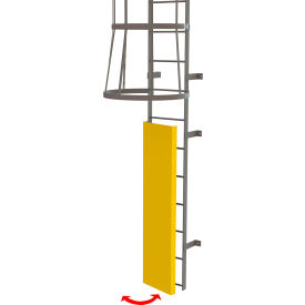 Fixed Steel Ladder Guard Door for Entry Onto Fixed Ladder, Safety Yellow - OPFS03-Y